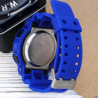 Мужские наручные часы Casio G-Shock GA-100 Blue-Black, фото 3