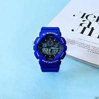Мужские наручные часы Casio G-Shock GA-100 Blue-Black, фото 4