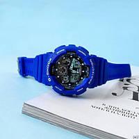 Мужские наручные часы Casio G-Shock GA-100 Blue-Black, фото 5