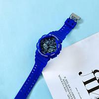 Мужские наручные часы Casio G-Shock GA-100 Blue-Black, фото 6