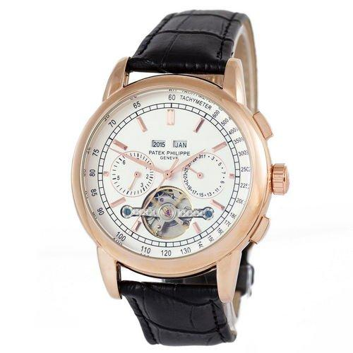 Мужские наручные часы Patek Philippe Grand Complications Tourbillon Black-Gold-White