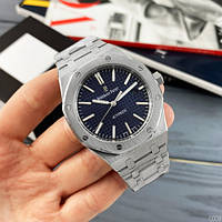 Мужские наручные часы Audemars Piguet Royal Oak 0788 Silver-Blue, фото 3