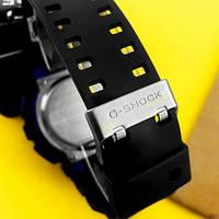 Мужские наручные часы Casio G-Shock GA-100 Black-Black-Blue, фото 6