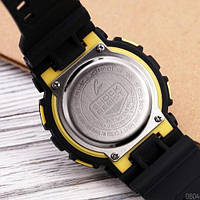 Мужские наручные часы Casio G-Shock GA-100 Black-Yellow-Black, фото 3