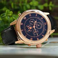 Мужские наручные часы Patek Philippe Grand Complications 5002 Sky Moon Black-Gold-Black, фото 5
