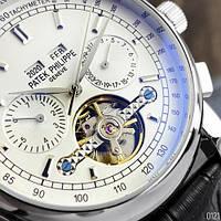 Мужские наручные часы Patek Philippe Grand Complications Tourbillon Black-Silver-White, фото 4