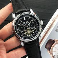 Мужские наручные часы Patek Philippe Grand Complications Tourbillon Silver-Black, фото 2