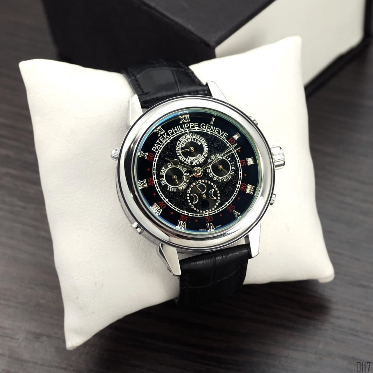 Мужские наручные часы Patek Philippe Grand Complications 5002 Sky Moon Black-Silver-Black