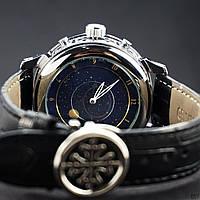 Мужские наручные часы Patek Philippe Grand Complications 5002 Sky Moon Black-Silver-Black, фото 2