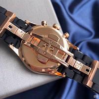 Мужские наручные часы Emporio Armani AR-5905 Black-Gold-Black Silicone, фото 8