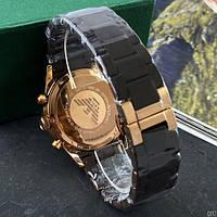 Мужские наручные часы Emporio Armani AR-5905 Gold-Brown Silicone, фото 4
