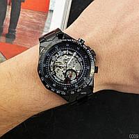 Мужские наручные часы Winner 8067 Black-Silver-Red Cristal, фото 4