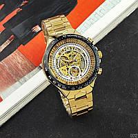 Мужские наручные часы Winner 8067 Gold-Black-White Red Cristal, фото 2