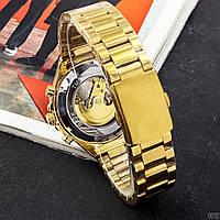 Мужские наручные часы Winner 8067 Gold-Black-White Red Cristal, фото 3