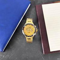 Мужские наручные часы Winner 8067 Gold-Black-Gold Red Cristal, фото 3