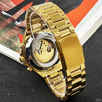 Мужские наручные часы Winner 8067 Gold-Black-Gold Red Cristal, фото 6