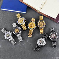 Мужские наручные часы Winner 8067 Gold-Black-Gold Red Cristal, фото 8