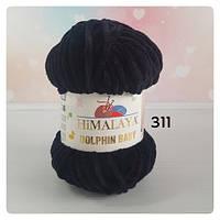 Пряжа Himalaya Dolphin Baby №80311 (Долфин Беби) Плюшевая Черный