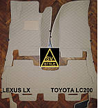 Килимки Toyota Land Cruiser 200 з Екошкіри 3D (2008+), фото 5