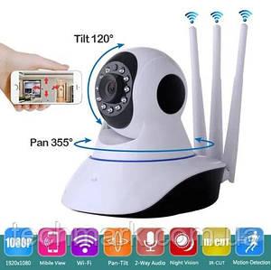 Беспроводная IP камера WiFi  3-антенны для видеонаблюдения, ночная съемка, видеоняня