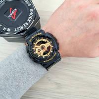 Мужсие наручные часы Casio G-Shock GA-110 Black-Gold New, фото 2