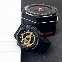 Мужсие наручные часы Casio G-Shock GA-110 Black-Gold New, фото 3