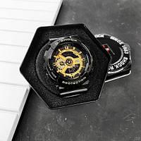 Мужсие наручные часы Casio G-Shock GA-110 Black-Gold New, фото 4