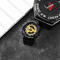 Мужсие наручные часы Casio G-Shock GA-110 Black-Gold New, фото 6