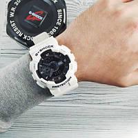 Мужские наручные часы Casio G-Shock GA-110 White-Black New, фото 3
