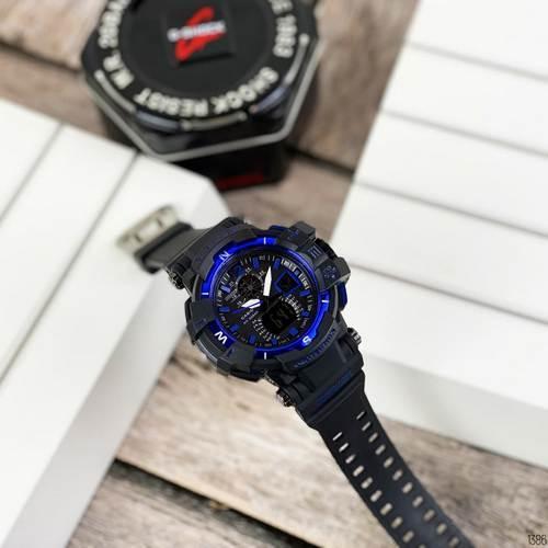 Мужские наручные часы Casio G-Shock GW-A1100 Black-Blue