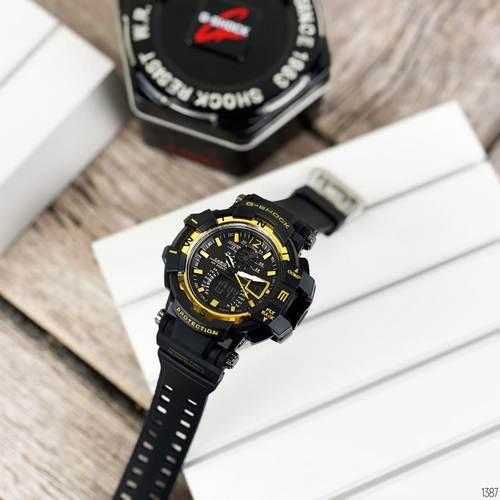 Мужские наручные часы Casio G-Shock GW-A1100 Black-Gold