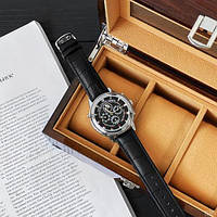 Мужские наручные часы Patek Philippe Grand Complications 5002 Sky Moon Black-Silver-Black New, фото 5