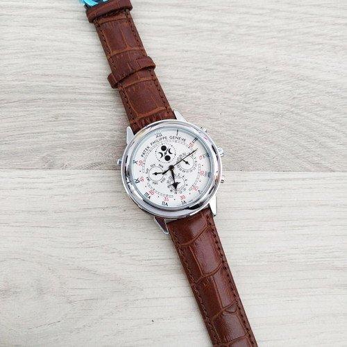 Мужские наручные часы Patek Philippe Grand Complications 5002 Sky Moon Brown-Silver-White New