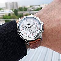 Мужские наручные часы Patek Philippe Grand Complications 5002 Sky Moon Brown-Silver-White New, фото 4