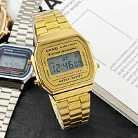 Мужские наручные часы Casio Illuminator F-91W Gold New, фото 2