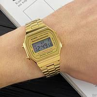 Мужские наручные часы Casio Illuminator F-91W Gold New, фото 3