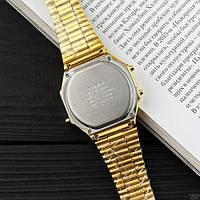 Мужские наручные часы Casio Illuminator F-91W Gold New, фото 4