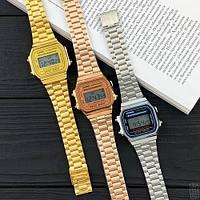Мужские наручные часы Casio Illuminator F-91W Gold New, фото 5