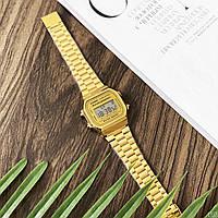 Мужские наручные часы Casio Illuminator F-91W Gold New, фото 6