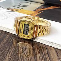 Мужские наручные часы Casio Illuminator F-91W Gold New, фото 7