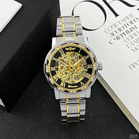 Мужские наручные часы Winner 8012 Diamonds Automatic Silver-Black-Gold, фото 5