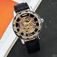 Мужские наручные часы Winner 8012C Diamonds Automatic Black-Silver-Gold-Black, фото 2