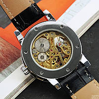 Мужские наручные часы Winner 8012C Diamonds Automatic Black-Silver-Gold-Black, фото 3