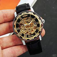 Мужские наручные часы Winner 8012C Diamonds Automatic Black-Silver-Gold-Black, фото 4