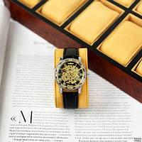 Мужские наручные часы Winner 8012C Diamonds Automatic Black-Silver-Gold-Black, фото 6
