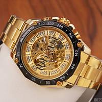 Мужские наручные часы Winner 8186 Big Diamonds Gold, фото 2