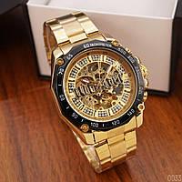 Мужские наручные часы Winner 8186 Big Diamonds Gold, фото 3