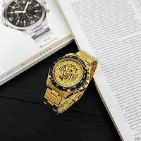 Мужские наручные часы Winner 8186 Big Diamonds Gold, фото 4