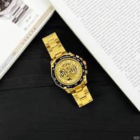 Мужские наручные часы Winner 8186 Big Diamonds Gold, фото 5