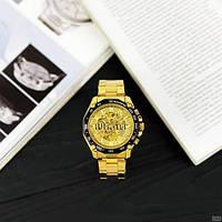 Мужские наручные часы Winner 8186 Big Diamonds Gold, фото 6